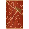 "18""x30"" Woodcut Map of Barranquilla"