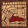 "8""x8"" Woodcut Map of San Francisco"