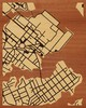 "16""x20"" Woodcut Map of Annapolis"
