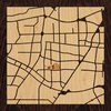 "8""x8"" Woodcut Map of Hefei"