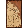 "9""x16"" Woodcut Map of Barranquilla"