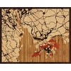 "20""x16"" Woodcut Map of Shenzhen"
