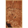 "18""x30"" Woodcut Map of Dongguan"