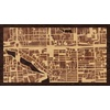 "16""x9"" Woodcut Map of Beijing"