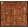 "7""x7"" Woodcut Map of Beijing"