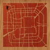 "8""x8"" Woodcut Map of Beijing"