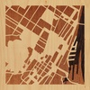 "8""x8"" Woodcut Map of Montreal"