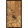 "9""x16"" Woodcut Map of Doha"