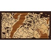 "16""x9"" Woodcut Map of Oak Bluffs"
