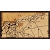 "16""x9"" Woodcut Map of La Habana"