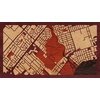 "16""x9"" Woodcut Map of Mississauga"