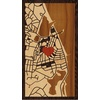 "9""x16"" Woodcut Map of Oak Bluffs"