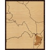 "16""x20"" Woodcut Map of Cundinamarca"