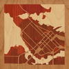 "8""x8"" Woodcut Map of Vancouver"