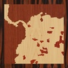 "8""x8"" Woodcut Map of Cundinamarca"
