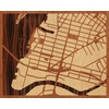 "20""x16"" Woodcut Map of Queens"