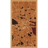 "9""x16"" Woodcut Map of Dublin"
