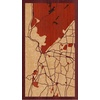"9""x16"" Woodcut Map of Suffern"