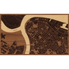 "30""x18"" Woodcut Map of Beograd"