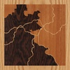 "8""x8"" Woodcut Map of Blowing Rock"