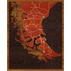 "16""x20"" Woodcut Map of El Ovejero"
