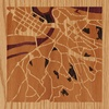 "8""x8"" Woodcut Map of Beograd"