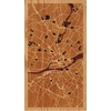 "9""x16"" Woodcut Map of Nantes"