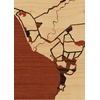 "5""x7"" Woodcut Map of Puerto Vallarta"