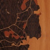 "8""x8"" Woodcut Map of Lihue"