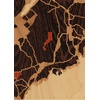 "5""x7"" Woodcut Map of Brownville"