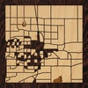 "8""x8"" Woodcut Map of Greeley"