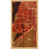 "9""x16"" Woodcut Map of Lakewood"