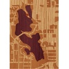 "5""x7"" Woodcut Map of Tacoma"