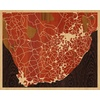 "20""x16"" Woodcut Map of Barkly West"