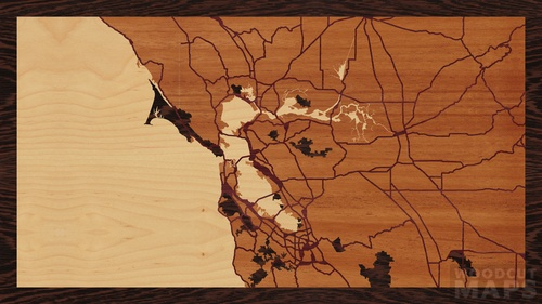16 X9 Woodcut Map Of The Bay Area Woodcut Maps Map of bay area rapid transit (bart) tracks. 16 x9 woodcut map of the bay area woodcut maps