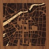 "8""x8"" Woodcut Map of Ōsaka-shi"
