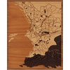 "16""x20"" Woodcut Map of Marseille"