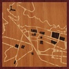 "8""x8"" Woodcut Map of Cusco"