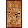 "9""x16"" Woodcut Map of Cusco"