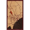 "9""x16"" Woodcut Map of Limassol"