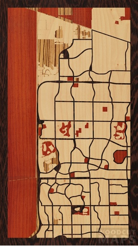 Map Of Coral Springs Florida.Wood Inlay Maps Of Coral Springs Florida Woodcut Maps