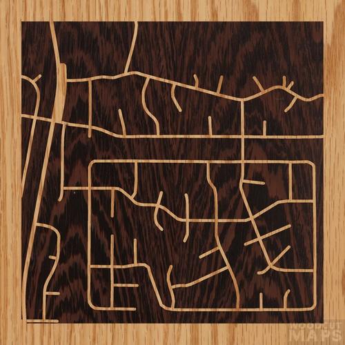 Happy Jack Arizona Map.Wood Inlay Maps Of Happy Jack Arizona Woodcut Maps