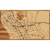 "30""x18"" Woodcut Map of Castro Valley"