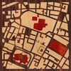 "8""x8"" Woodcut Map of Dublin"