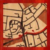 "8""x8"" Woodcut Map of Cambridge"