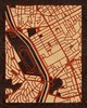 "16""x20"" Woodcut Map of Sao Paulo"
