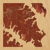 "8""x8"" Woodcut Map of Annapolis"