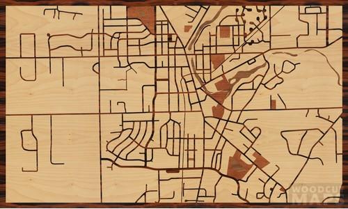 Cedarburg Wisconsin Map.Wood Inlay Maps Of Cedarburg Wisconsin Woodcut Maps