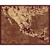 "20""x16"" Woodcut Map of San Luis Potosi"