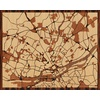 "20""x16"" Woodcut Map of Nantes"